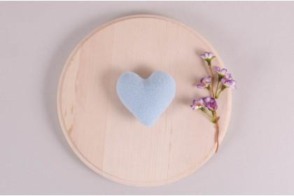 Mini Coração Azul Claro
